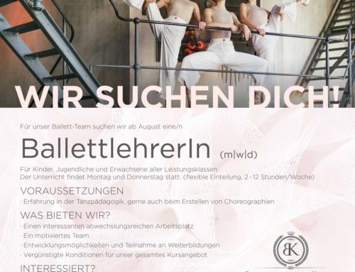 Ballettlehrer/in gesucht